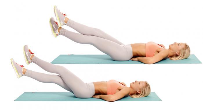 Упражнения для нижнего пресса живота