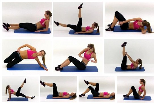 упражнения для нижней части живота