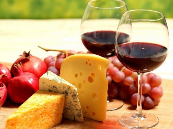 Винная диета с сыром