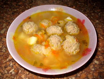диетический суп с фрикадельками 2