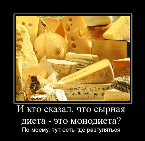 сырная диета плюсы