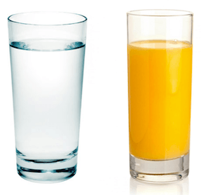 Сок и вода для разгрузки