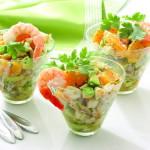 Рецепты диетических салатов с креветками