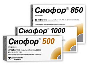 таблетки для похудения сиофор
