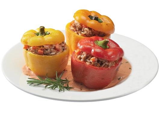 диетический фаршированный перец с овощами